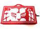 新日本プロレスリング/新日本プロレスリング/カラビナ付き ライオンマークスタジアムクッション(レッド×ホワイト)