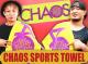 新日本プロレスリング/新日本プロレスリング/CHAOS スポーツタオル(イエローグリーン×パープル)