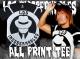 新日本プロレスリング/新日本プロレスリング/L・I・J オールプリントTシャツ(ブラック×ホワイト)