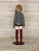 メーカーオリジナル/Little World × DollHearts/DH/OB50-11【45~50cmドール用】レイヤードスタイル/ニット×シャツコーデセット