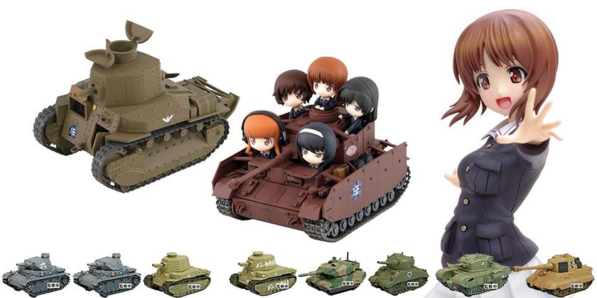 [予約開始]『ガールズ&パンツァー』西住みほ1/8スケールフィギュア、プルバックタンク、IV号戦車D型改(H型仕様)塗装済み完成品、八九式中戦車甲型プラモデルが登場!