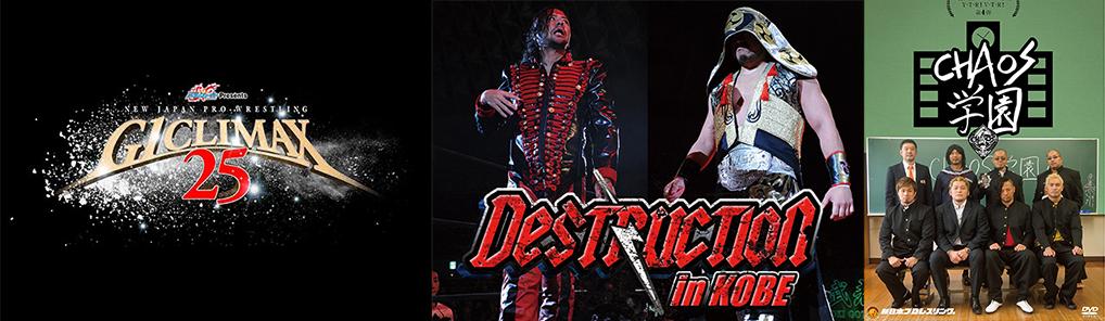 [予約開始]『新日本プロレスリング』DVD「G1 CLIMAX2015」「DESTRUCTION in KOBE」「Y・T・R!V・T・R!第4弾 CHAOS学園」 が登場!さらに関連DVDが多数販売開始!
