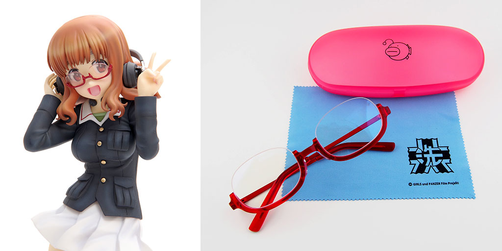 [予約開始]『ガールズ&パンツァー』「あんこうチーム」の恋に恋する通信手「武部沙織」のパンツァージャケット姿フィギュアと彼女がプライベートで使用している眼鏡が登場!