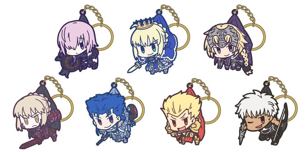 [予約開始]『Fate/Grand Order』お気に入りのキャラをつまんじゃおう!つままれキーホルダー&ストラップが登場!
