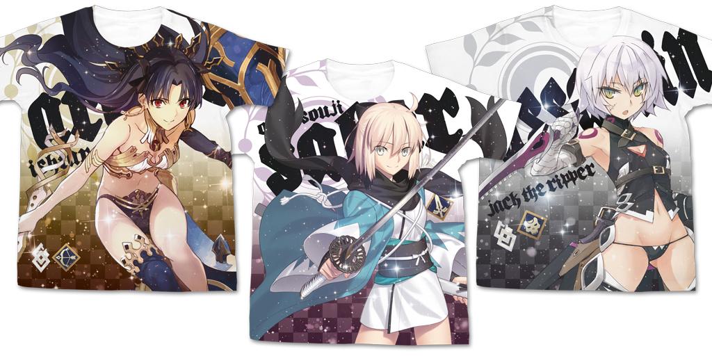 [予約開始]『Fate/Grand Order』フルグラフィックTシャツ3種が登場!グランドオーダーを遂行せよ!