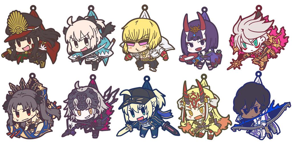 [予約開始]『Fate/Grand Order』お気に入りのキャラをつまんじゃおう!つままれキーホルダー&ストラップ10種が登場!