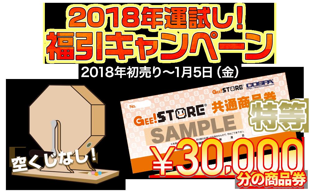 [キャンペーン]『2018新春キャンペーン』2018年運試し!福引キャンペーン