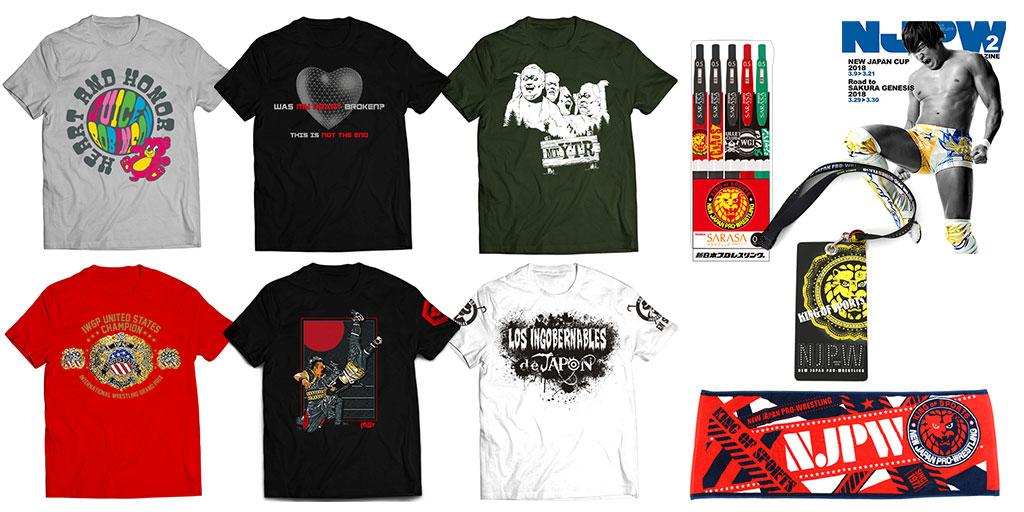 [販売開始]『新日本プロレスリング』Tシャツ12種、ボールペン、スポーツタオル、チケットホルダー、パンフレット2種が登場![新日本プロレス]