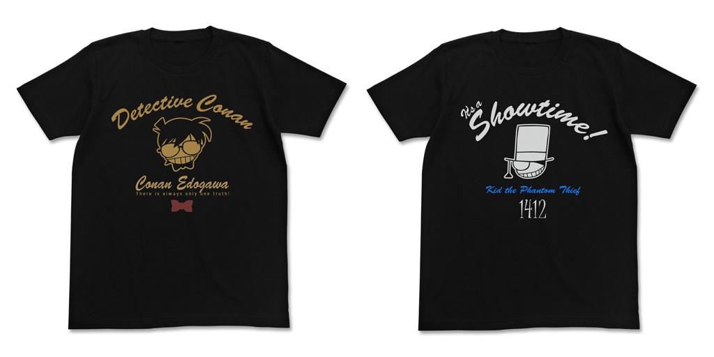 [予約開始]『名探偵コナン』やや厚みのあるインクを使用!コナンと怪盗キッドのアイコンマークTシャツが登場![コスパ]