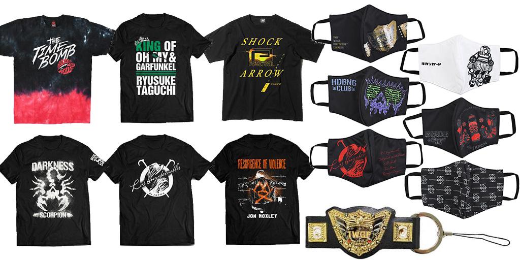 [販売開始]『新日本プロレスリング』Tシャツ6種、マスクカバー6種、ベルトストラップが登場![新日本プロレス]