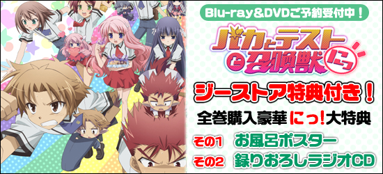 バカとテストと召喚獣にっ!Blu-ray&DVD ジーストア特典付で予約受付中!