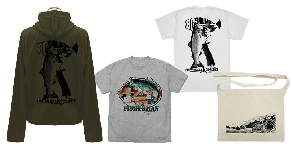 [予約開始]『釣りキチ三平』「三平」のTシャツ、ドライTシャツ、薄手ドライパーカー、サコッシュが登場![コスパ]