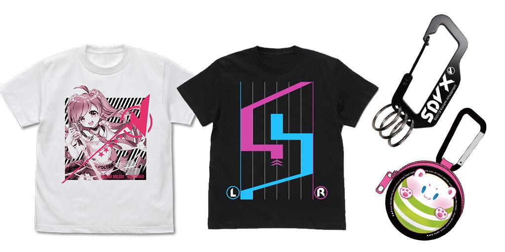 [予約開始]『SOUND VOLTEX』Tシャツ2種、カラビナ、 フルカラーイヤホンポーチが登場![コスパ]