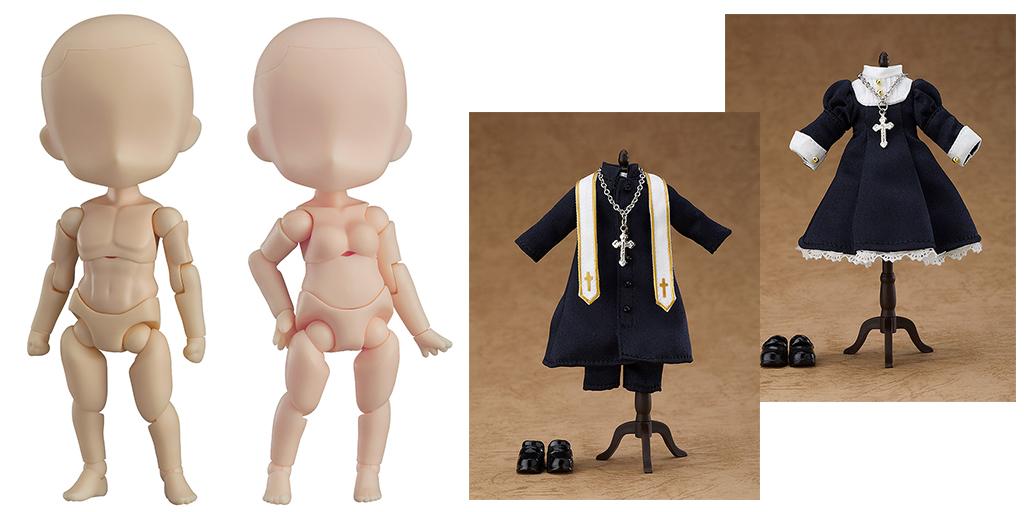 [予約開始]『ねんどろいどどーる』男の子ボディと女の子ボディの新タイプ、ねんどろいどどーる用のシックなシスター服と神父服が登場![グッドスマイルカンパニー]