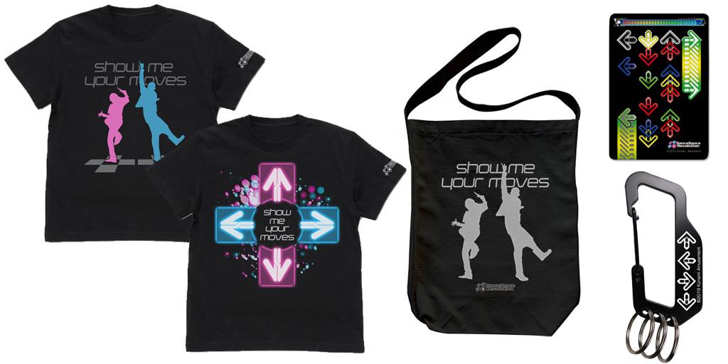 [予約開始]『DanceDanceRevolution』Tシャツ2種、ショルダートート、フルカラーパスケース、カラビナが登場![コスパ]