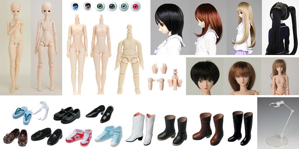 [販売開始]『Obitsu Body』ドールボディやパーツ、ドールウィッグ、ドールアイ、ミニコスチュームなど多数登場![オビツ製作所]