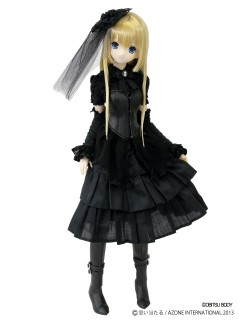 AZONE/50 Collection/FAR158【48/50cmドール用】BlackRavenClothing ロゼ ノワール ブーツ