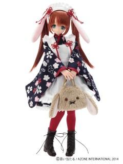 AZONE/Pureneemo Original Costume/POC314【1/6サイズドール用】こもれび森のお洋服屋さん♪「もふもふうさぎさんバッグ」