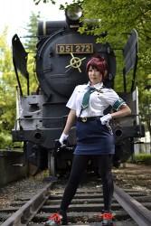 RAIL WARS!/RAIL WARS!/日本國有鉄道公安隊女子制服 夏服シャツセット 桜井あおいver.