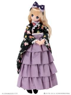 AZONE/Pureneemo Original Costume/ALB151【1/6サイズドール用】PNXS女の子着物・フリル袴セット~雛桜~