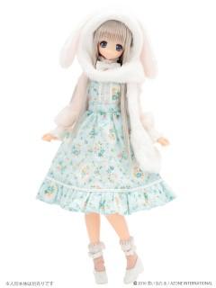 AZONE/Pureneemo Original Costume/POC369【1/6サイズドール用】こもれび森のお洋服屋さん♪「たれミミうさぎフードマフラー」