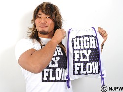 新日本プロレスリング/新日本プロレスリング/棚橋弘至 ナップサック(HIGH FLY FLOW Tシャツ<ドット>)