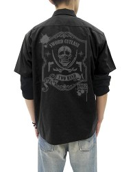 ブラック・ラグーン/ブラック・ラグーン/トゥーハンド ワッペンベースワークシャツ