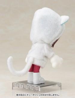 キューポッシュ/キューポッシュえくすとら/キューポッシュえくすとら あにまるパーカーセット(白猫) フィギュア用アクセサリー