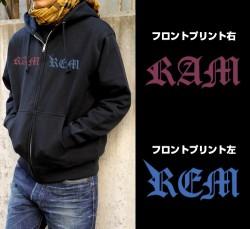 Re:ゼロから始める異世界生活/Re:ゼロから始める異世界生活/★限定★レム&ラム刺繍ジップパーカー