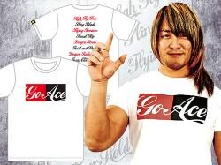 新日本プロレスリング/新日本プロレスリング/棚橋弘至「Go Ace」Tシャツ