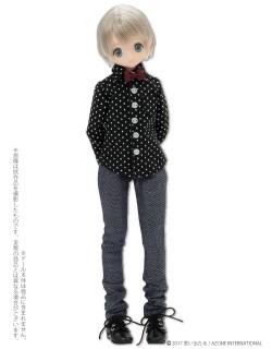 AZONE/Pureneemo Original Costume/ALB171【1/6サイズドール用】PNXSドット柄シャツ
