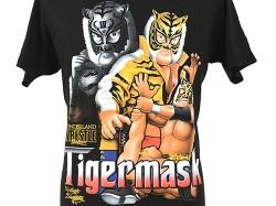 新日本プロレスリング/新日本プロレスリング/タイガーマスク イラストTシャツ