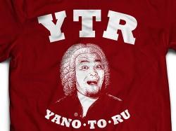 新日本プロレスリング/新日本プロレスリング/矢野通「バッハ」Tシャツ(第2楽章・バーガンディー)