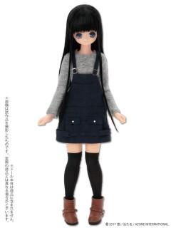 AZONE/Pureneemo Original Costume/POC406【1/6サイズドール用】PNS BlackRavenClothing サロペットカジュアルドレスセット