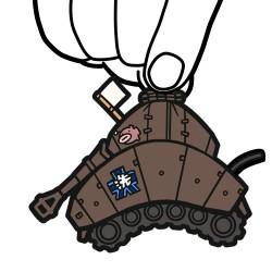 ガールズ&パンツァー/ガールズ&パンツァー 劇場版/IV号戦車H型 D型改つままれキーホルダー