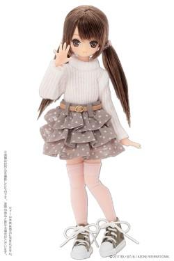 AZONE/ピコニーモコスチューム/PIC192【1/12サイズドール用】1/12 タートルニット&ベルト付きスカートセット