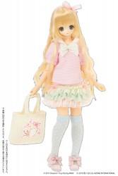 AZONE/Pureneemo Original Costume/POC443【1/6サイズドール用】Sugar Dream PNSお砂糖リボンフリルスカート
