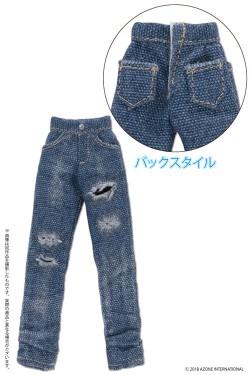 AZONE/ピコニーモコスチューム/PIC211【1/12サイズドール用】1/12 男の子ダメージスキニーデニムパンツ