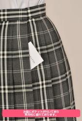 メーカーオリジナル/COSPATIOオリジナル/オリジナルプリーツスカート 灰チェック