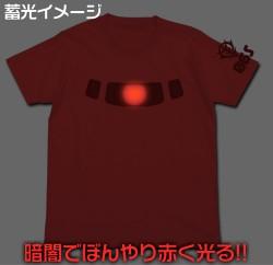 ガンダム/機動戦士ガンダム/シャアザクモノアイ蓄光Tシャツ