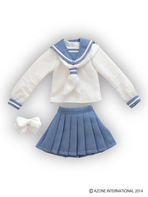 AZONE/Pureneemo Original Costume/POC308【1/6サイズドール用】PNS長袖セーラー服リボン&タイset