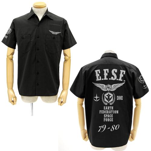 ガンダム/機動戦士ガンダム/地球連邦軍ワッペンベースワークシャツ