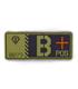 ジオン公国軍血液型PVCパッチ/B+