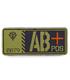 ジオン公国軍血液型PVCパッチ/AB+
