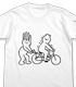 メロンコリニスタ 自転車Tシャツ