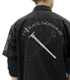 黒の剣士 刺繍ワッペンベースワークシャツ