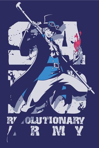 ... ONE PIECE/ワンピース/革命軍サボTシャツ