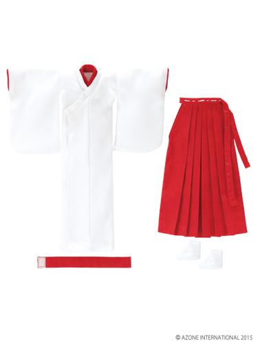 AZONE/Pureneemo Original Costume/PNM127【1/6サイズドール用】PNM/LL胸用巫女服set