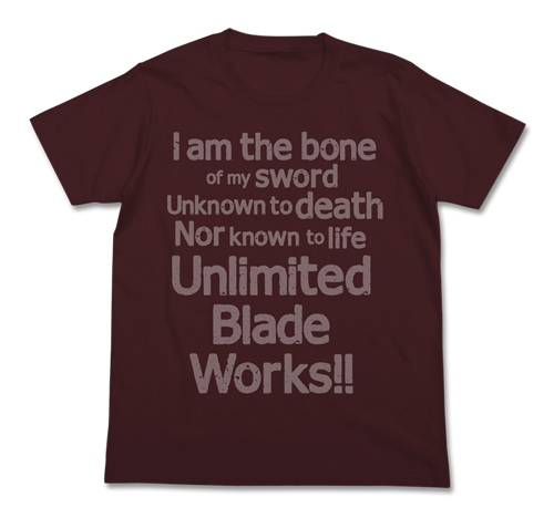 Fate/Fate/stay night/Unlimited Blade Works Tシャツ