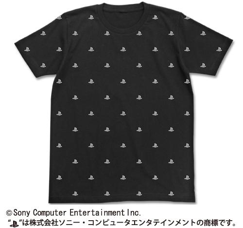 プレイステーション/プレイステーションファミリーマーク/総柄Tシャツ / プレイステーションファミリーマーク